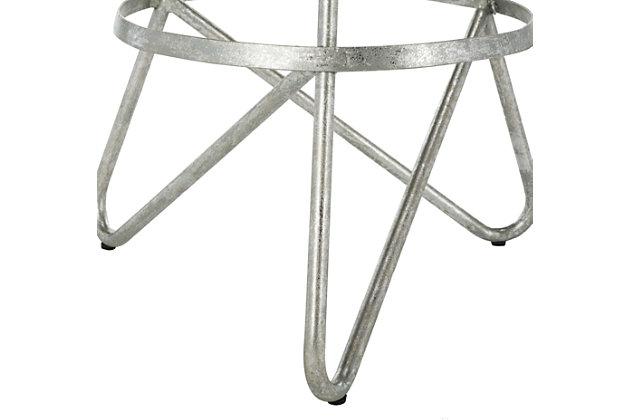 Verdana Modern Bar Stool, Silver Leaf, large