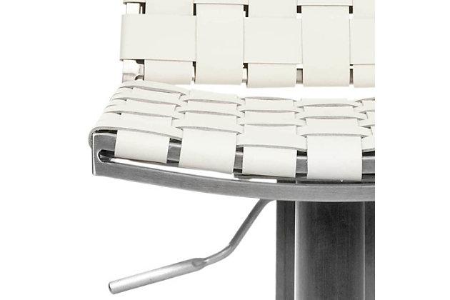 Cabo Swivel Adjustable Bar Stool, White, large