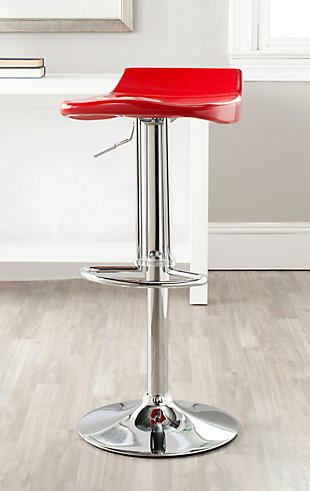 Howie Swivel Bar Stool, Red, rollover