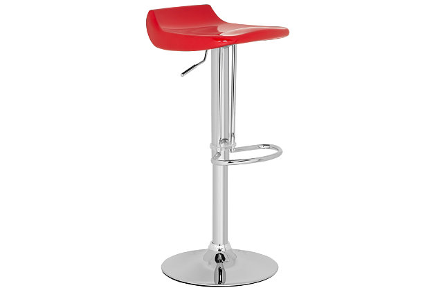 Howie Swivel Bar Stool, Red, large