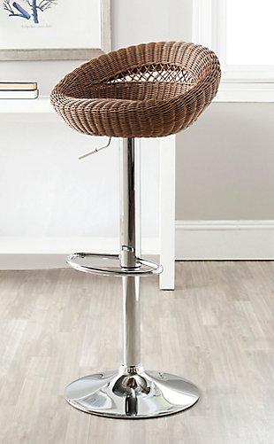 Gardenia Swivel Bar Stool, Brown, rollover