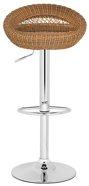 Gardenia Swivel Bar Stool, Brown, large