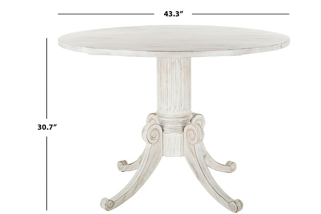 Clarity Drop Leaf Dining Table, Antique White, large