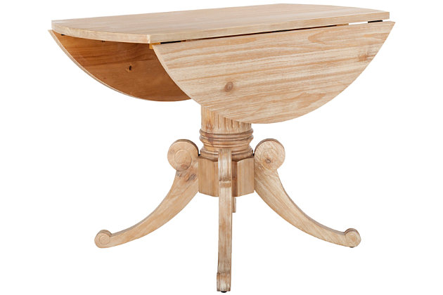 Clarity Drop Leaf Dining Table, Rustic Natural, large