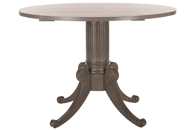 Clarity Drop Leaf Dining Table, Gray Wash, large