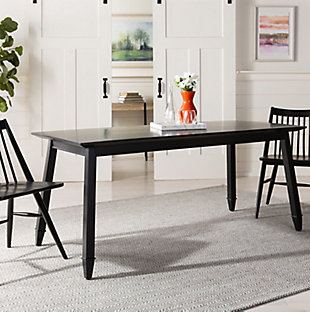 Carrie Black Rectangular Dining Table, Black, rollover