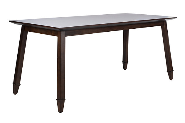 Carrie Walnut Rectangular Dining Table, Walnut, large
