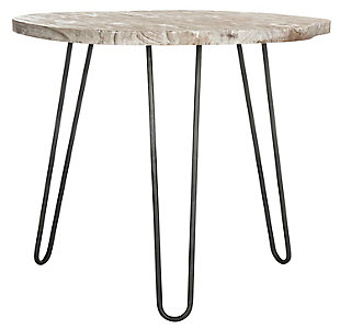 Ale Wood Top Dining Table, Gray/White Wash, large
