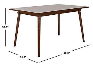 Brady Rectangular Dining Table, Walnut, large