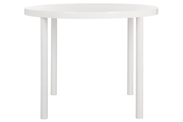Contempoary 40'' Round Dining Table, , large
