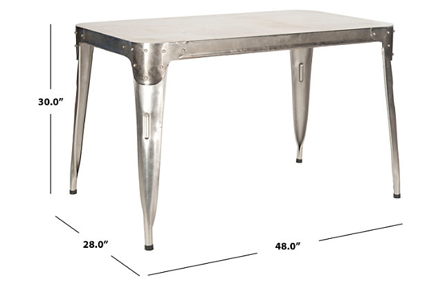 Antiqued Iron Dining Table, , large