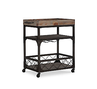 Powell Rolling Sawyer Bar Cart, , large