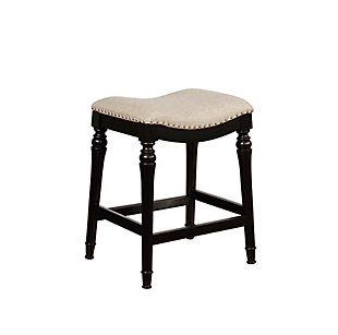 Powell Rubberwood Counter Height Bar Stool, , rollover
