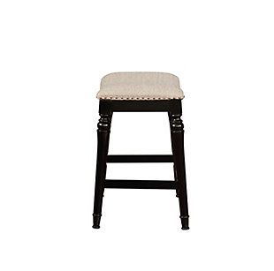 Powell Rubberwood Counter Height Bar Stool, , large