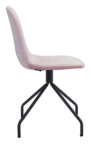 Zuo Modern Slope Chair (Set of 2), Pink, large