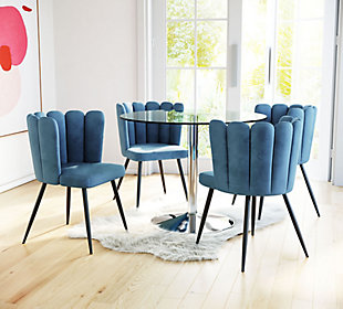 Zuo Modern Adele Dining Chair (Set of 2), Blue, rollover