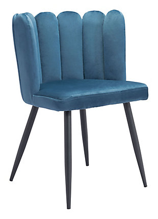 Zuo Modern Adele Dining Chair (Set of 2), Blue, large
