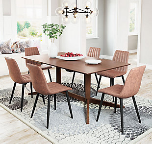 Zuo Modern Dolce Dining Chair (set Of 2), Brown, rollover