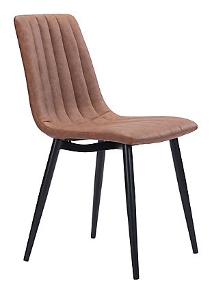 Zuo Modern Dolce Dining Chair (Set of 2), Brown, large