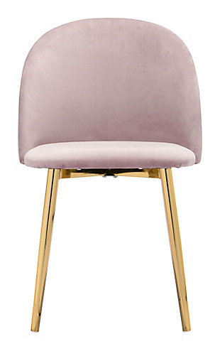 Zuo Modern Cozy Dining Chair (Set of 2), Pink, rollover