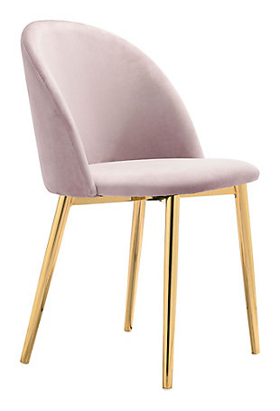 Zuo Modern Cozy Dining Chair (Set of 2), Pink, large
