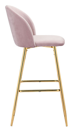 Zuo Modern Cozy Bar Stool, Pink, large