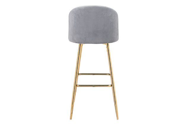 Zuo Modern Cozy Bar Stool, Gray, large