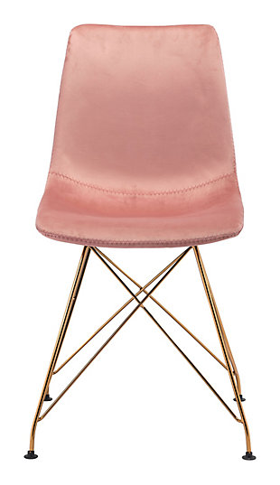 Zuo Modern Parker Dining Chair (Set of 4), Pink, rollover