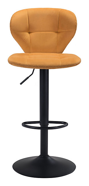 Zuo Modern Salem Bar Stool, Yellow, rollover