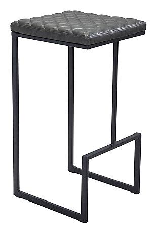 Zuo Modern Element Bar Stool, Gray, large