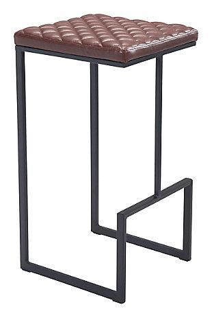 Zuo Modern Element Bar Stool, Brown, large