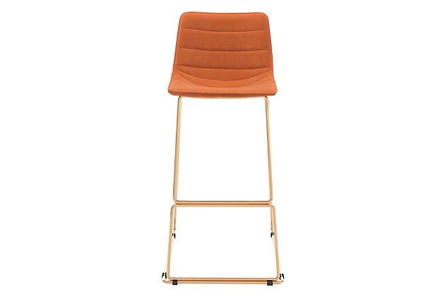 Zuo Modern Adele Bar Stool, Orange/Gold Finish, large