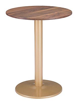 Zuo Modern Alto Bistro Table, Brown/Gold Finish, rollover