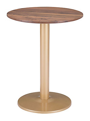 Zuo Modern Alto Bistro Table, Brown/Gold Finish, large
