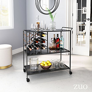Zuo Modern Streamline Bar Cart, , rollover