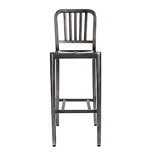 Euro Style Cafe Counter Stool in Brushed Nickel, Nickel, large