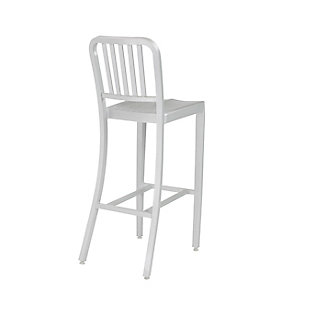 Euro Style Cafe Counter Stool in Matte Aluminum, Silver, large