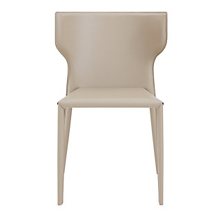 Euro Style Divinia Stacking Chair in Light Gray (Set of 2), Light Gray, large