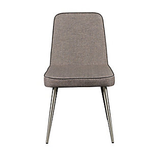 Euro Style Esmoriz Side Chair in Dark Gray and with Matte Black Legs (Set of 2), Dark Gray, rollover