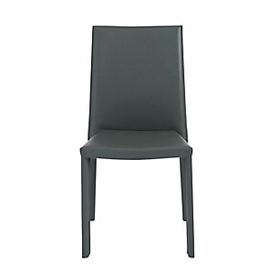 Euro Style Hasina Side Chair in Gray (Set of 2), Gray, large