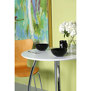 Euro Style Tendy Stacking Side Chair in Natural with Chrome Legs - Set of 4, Natural, rollover