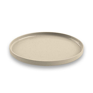 TarHong Melamine Palermo Salad Plate (Set of 6), Brown/Beige, large