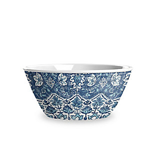 TarHong Melamine Atlantic Blue Medallion Cereal Bowl (Set of 6), , large