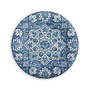 TarHong Melamine Atlantic Blue Medallion Salad Plate (Set of 6), , large