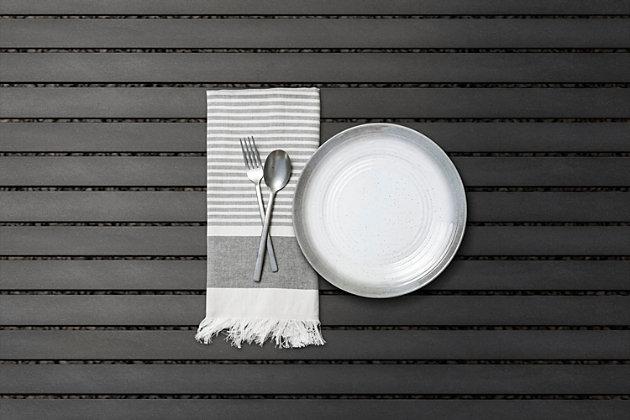 TarHong Melamine Ombre Rim Speckle Dinner Plate (Set of 6), Multi, large