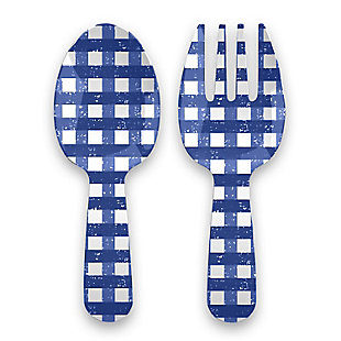 TarHong Melamine Homemade Navy Gingham Serving Utensils, , large