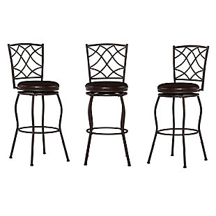 Linon Eva Adjustable Stool Set of Three, , large
