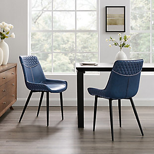Linon Griffin Blue Dining Chairs, set of 2, , rollover