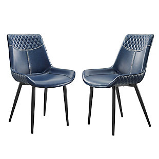 Linon Griffin Blue Dining Chairs, set of 2, , large