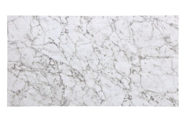 Linon Iris 3 Piece Tavern Set, Faux Black Marble, Black, large